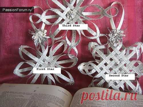 Делаем снежинки / новогодние подарки,поделки и костюмы / PassionForum - мастер-классы по рукоделию