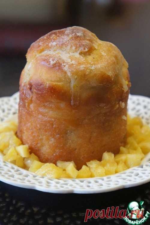 Ромовая баба с кристаллами ананаса - кулинарный рецепт