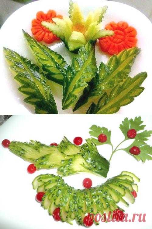 Огурцы блюдо из огурцов - Фото оригинальных блюд