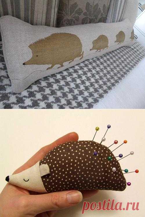 Текстиль о ежиках.