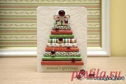 Новогодняя открытка » Вышивка, бесплатные схемы вышивки крестом