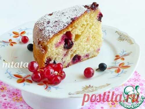 Пирог с красной и черной смородиной – кулинарный рецепт