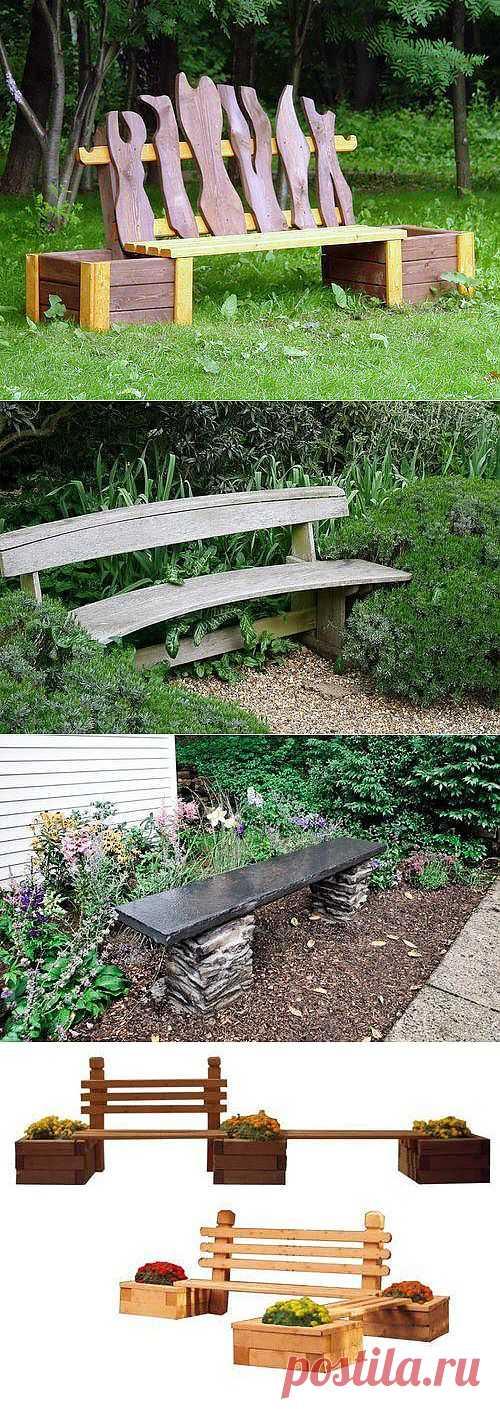 Скамейки для дачи. Фото