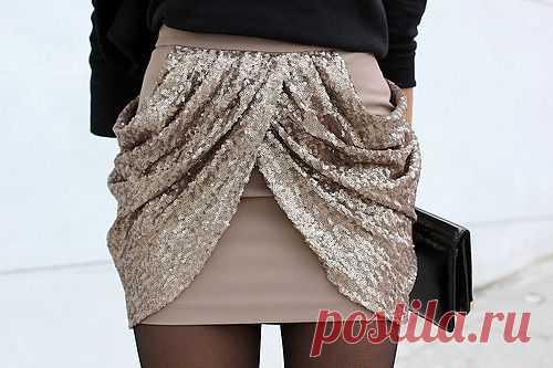 Декор мини-юбки / Юбки и их переделки / Модный сайт о стильной переделке одежды и интерьера
