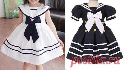 9ce5bdd0e24 Выкройка платья в морском стиле для девочки