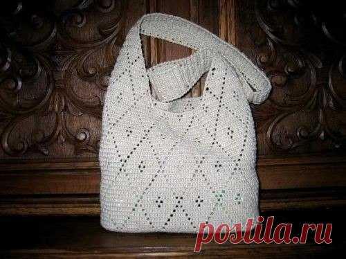 f2fdd2ec60ae Летняя сумка крючком. Летняя сумка через плечо крючком | Домоводство для  всей семьи.