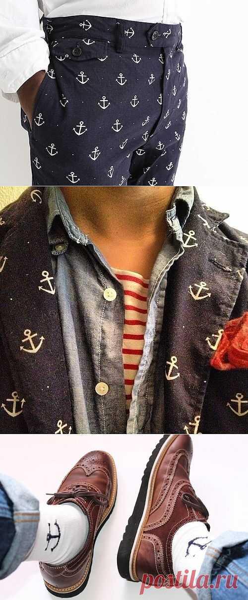 Якорная тема в мужском гардеробе / Мужская мода / Модный сайт о стильной переделке одежды и интерьера