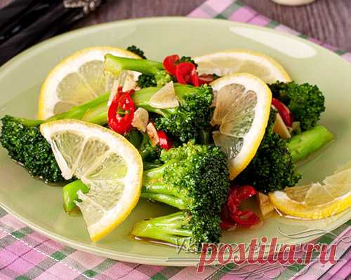 Брокколи с чесноком и острым перцем - Салаты из овощей - Рецепты - Вкусные рецепты на каждый день