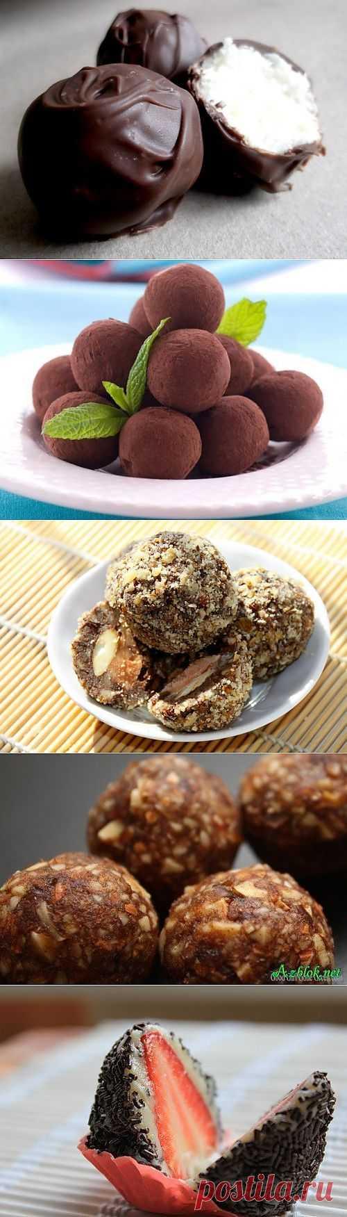 13 супер рецептов домашних конфет. .