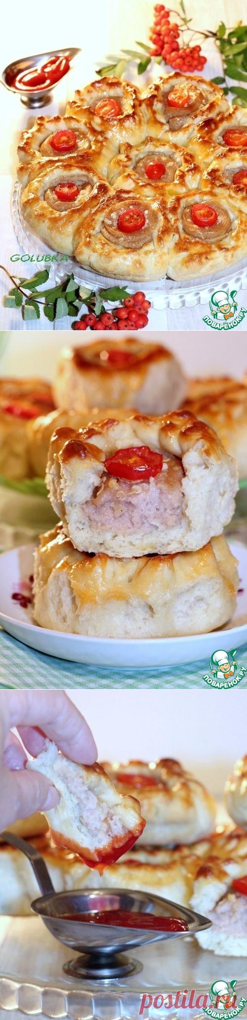 """Пшенные пирожки """"Торбочки"""" с ливером – кулинарный рецепт"""