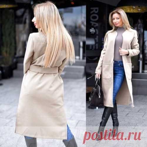 Кашемировое пальто без застежки