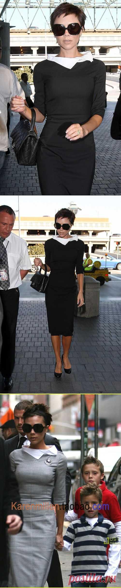 Воротничок Виктории Бекхем / Звездный стиль / Модный сайт о стильной переделке одежды и интерьера