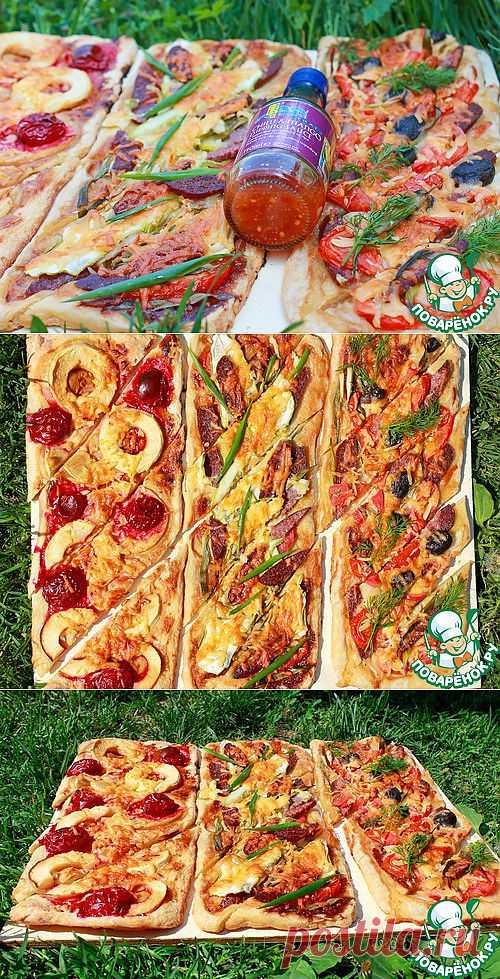 Пироги для пикника с разными начинками на домашнем слоёном тесте - кулинарный рецепт