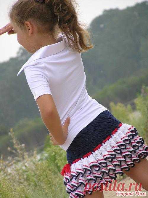 Красивая юбочка крючком.  Есть схемка.