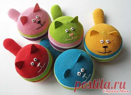 Antistress cat - we Knit together online - the Country of Mothers