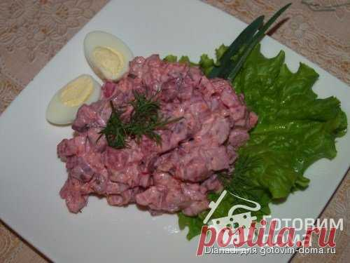 Красный мясной салат. Punane lihasalat - пошаговый рецепт с фото на Готовим дома