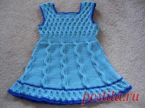 2326875d36d723a Платье спицами для девочки от 1 года до 6 лет Подробное описание вязания  спицами платья для