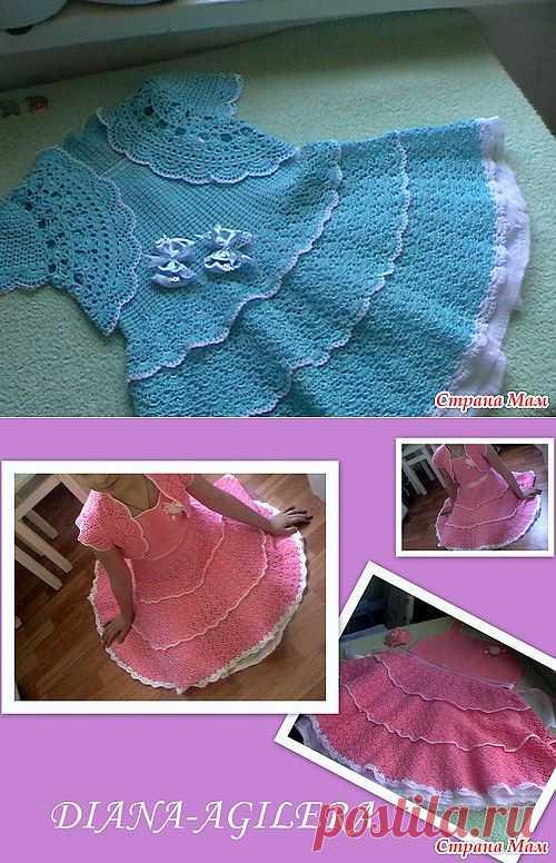 Шикарное платье для девочки + МК от замечательной мастерицы diana-agilera.