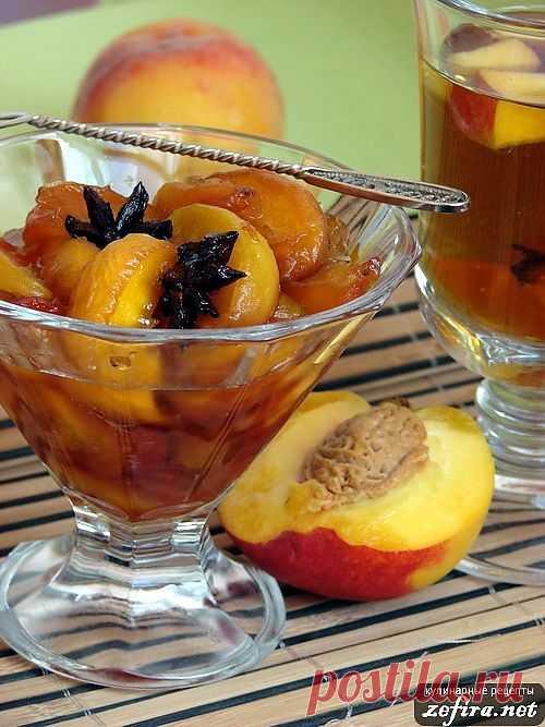 Изысканный рецепт персикового варенья с перцем и анисом. Очень изысканно, неповторимые нотки аниса и небольшая пряность от перца – это нечто!