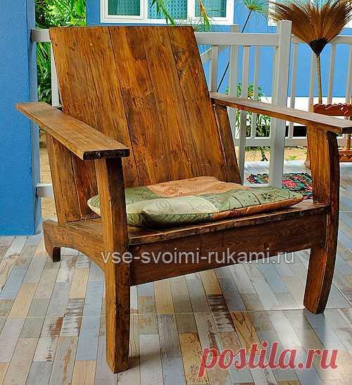 Как сделать деревянное кресло для дачи со спинкой и подлокотниками своими руками « МЫ ДЕЛАЕМ ВСЕ СВОИМИ РУКАМИ