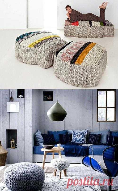 Вязаные мелочи для дома – модный интерьер спицами и нитками.