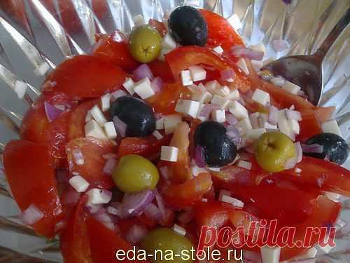 Средиземноморский салат | Еда на столе