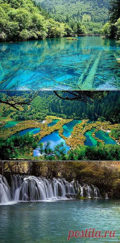 Бирюзовое Озеро в национальном парк Цзючжайгоу