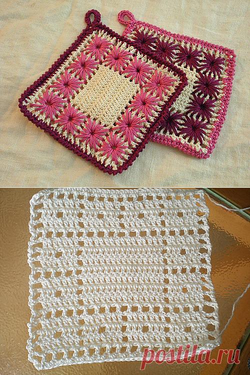 вязание крючкомвышивка вязание салфетки постила