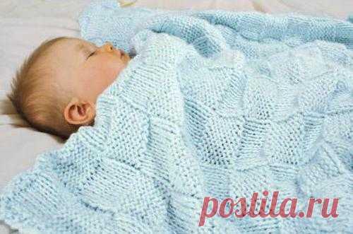 Детский плед спицами: схема, описание, узоры. Ажурный детский плед.