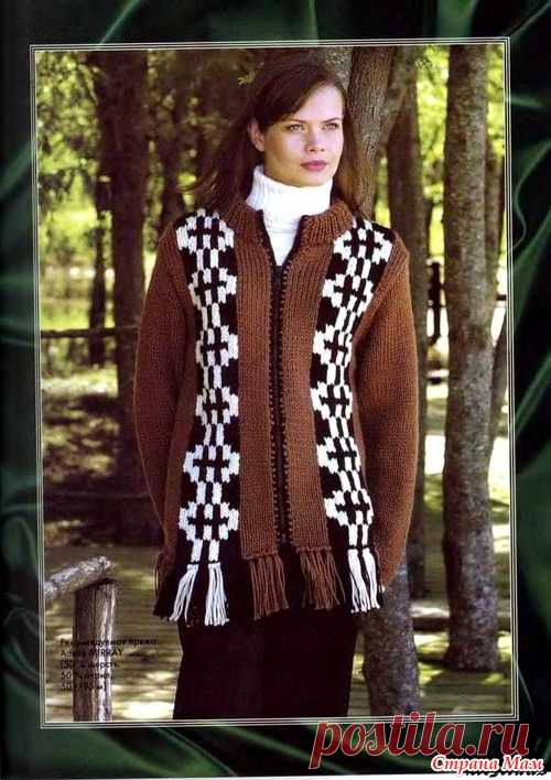 вязаная мода для полных женщин спицами