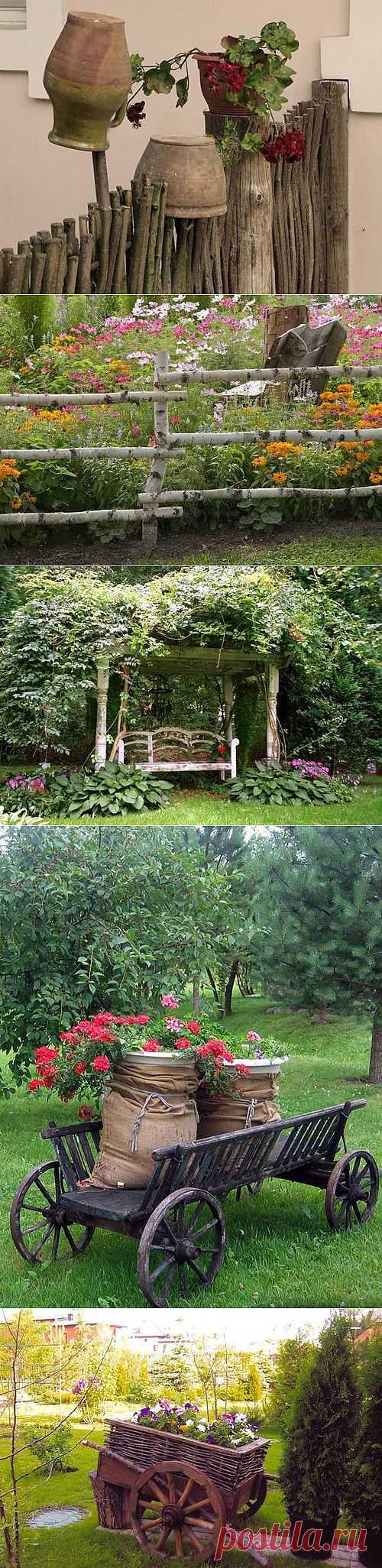Деревенский стиль в ландшафтном дизайне: идеи оформления с фото   Дом Мечты