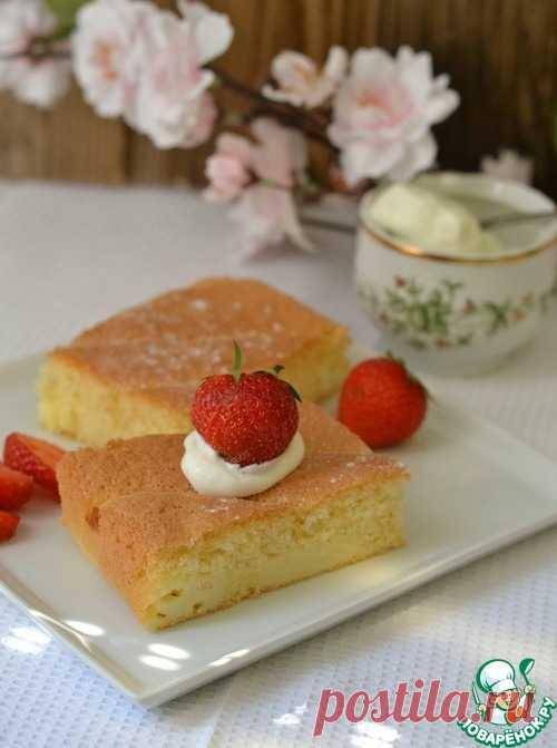 Пирог с пудинговой начинкой - кулинарный рецепт
