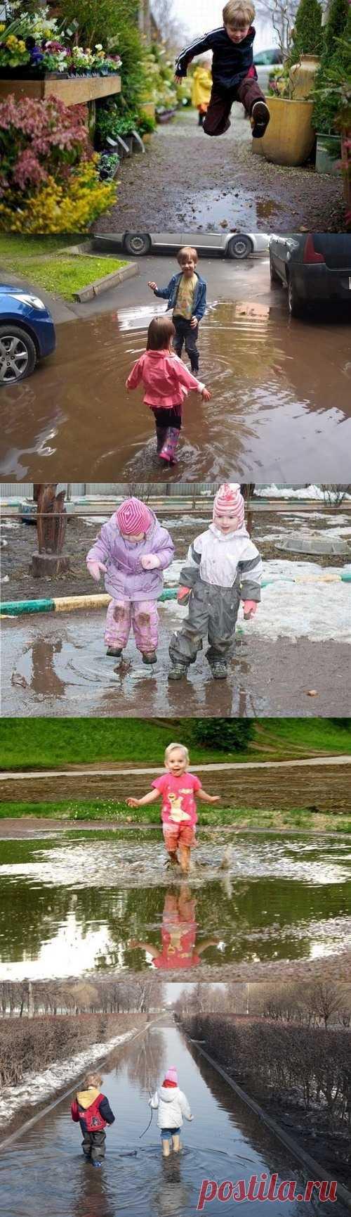 Дети и лужи – вечная тема )