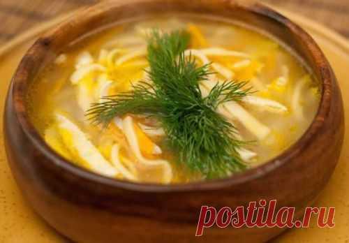Суп с лапшой по-татарски / Простые рецепты
