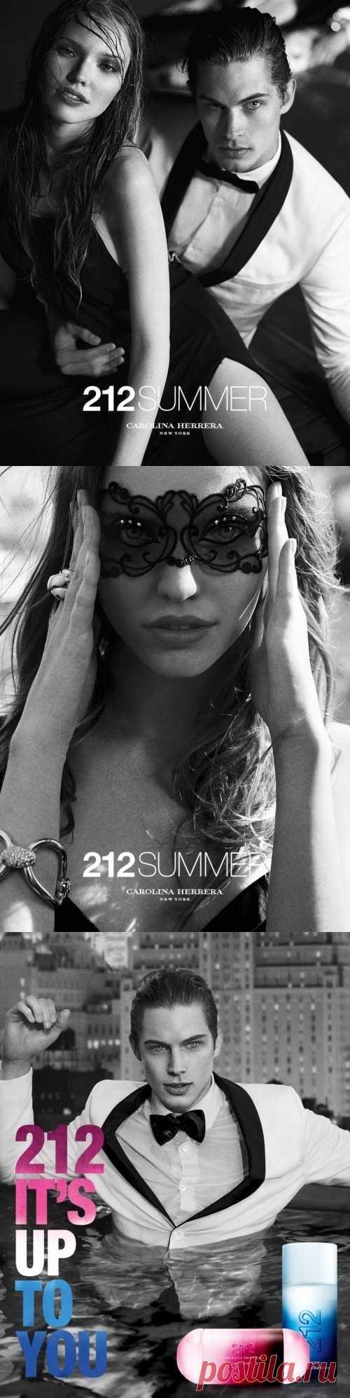 Рекламная кампания парфюма от Carolina Herrera 212