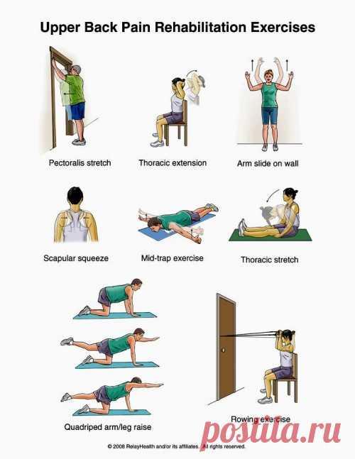 Упражнения для снятия болей и напряжения в спине. ( Инструкция на русском языке по клику на картинку)