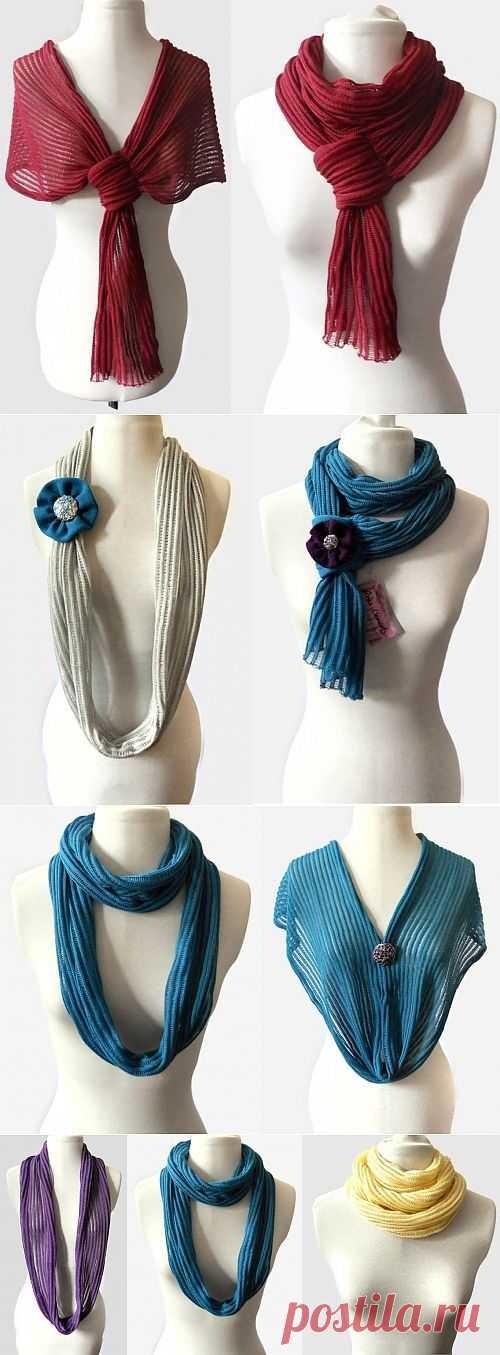 Один шарф - много решений / Аксессуары (не украшения) / Модный сайт о стильной переделке одежды и интерьера