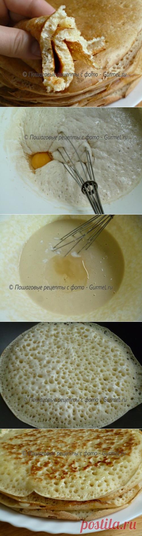 Блины на дрожжах рецепт с пошаговое