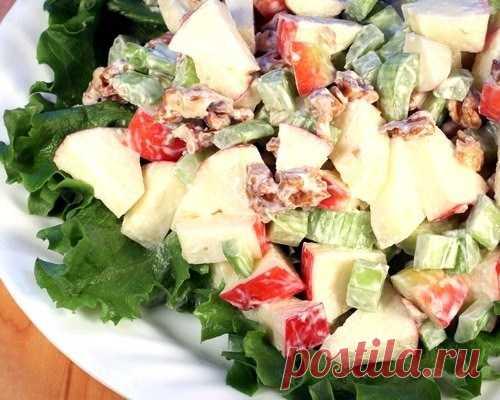 Салат из бананов, яблок и сельдерея рецепт – французская кухня: салаты