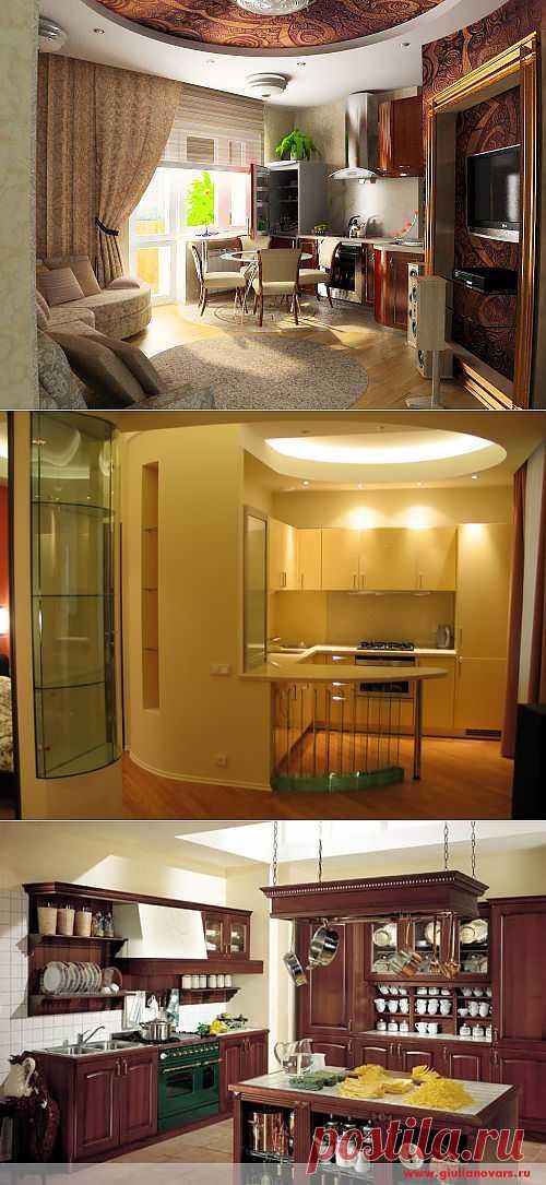 (+1) тема - Нестандартное размещение мебели на кухне | МОЙ ДОМ