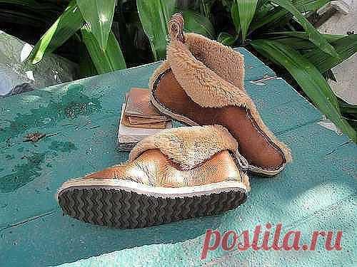 Обувь из старой дублёнки  © Handmade