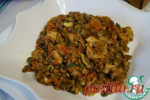 La lenteja con la carne y hortalizas - la receta de cocina