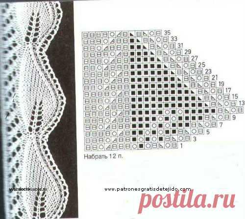 30 Puntos y Puntillas Dos Agujas \/ Patrones | Crochet y Dos agujas - Patrones de tejido