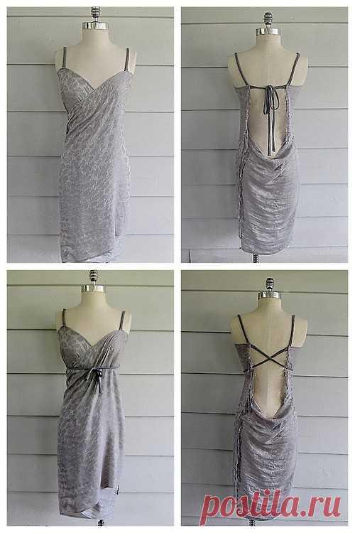 Платье из парео или шали! / Простые выкройки / Модный сайт о стильной переделке одежды и интерьера