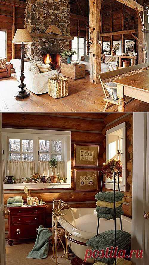 Деревенский стиль в интерьере: особенности оформления, фото | Дом Мечты
