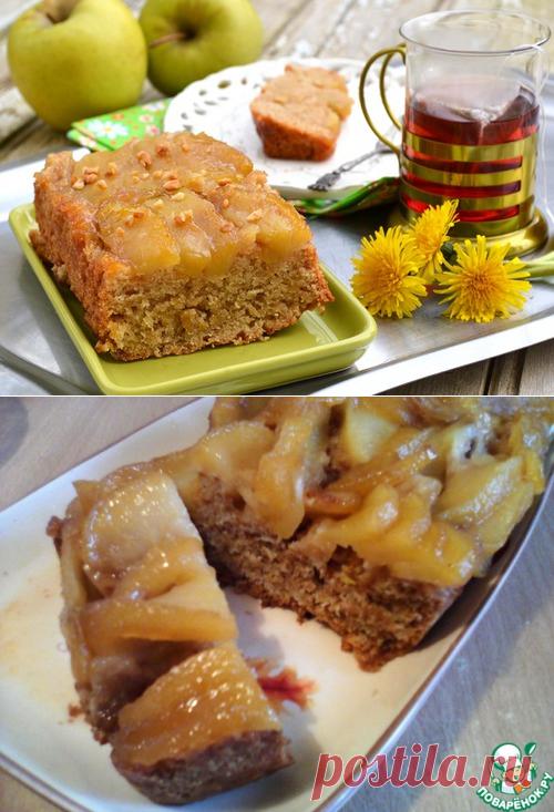 Постный яблочный пирог-перевертыш – кулинарный рецепт