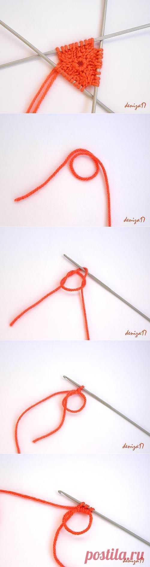 Набор петель крючком для кругового вязания на спицах. .