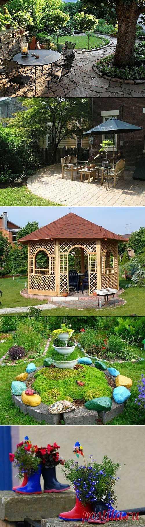 Оформление двора дома