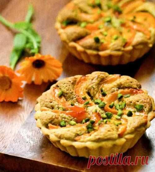 Ореховые тарталетки с абрикосами (для получения рецепта нажмите 2 раза на картинку)