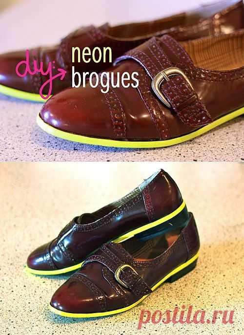 Микро неон (мастер-класс) / Обувь / Модный сайт о стильной переделке одежды и интерьера